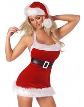 Merry See Yılbaşı Kız Kostümü Şapkalı